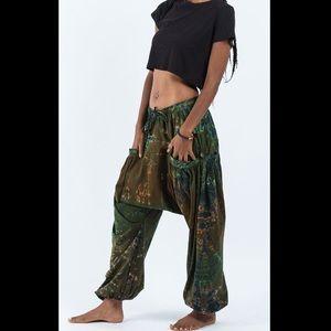 Pants - Tie Dye Cotton Women Harem Pants